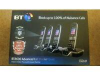 Brand new BT 8600 Advanced Call Blocker Cordless Home Phone with Answer Machine (Quad Handset Pack)