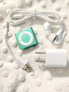 Ipod Shuffle 4th generation green color all accessories included