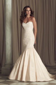 Paloma Blanca Blush & Lace Wedding/ Grad/ Prom Gown