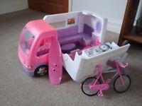 Sparkle Girlz Camper Van, similar to Barbie