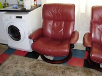 2 ekornes stressless recliner chairs