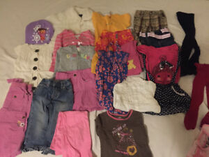 Lot clothes for toddler girl 18m 24m 2t jacket dress shirt pants