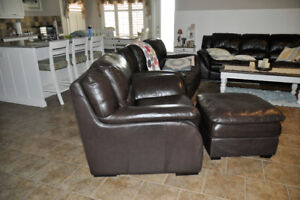 4 piece Top Grain Leather couch set