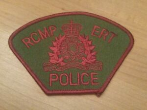 RCMP ERT Subdued Police patch from 2000