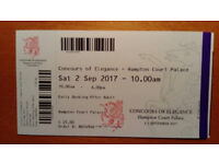 Concours of Elegance ticket - Hampton Court Palace - Saturday 2nd September 2017