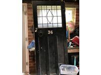 Reclaimed 1920's? Wooden Front Door