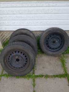 4 Quality Winter tires (with Rims !) priced to sell quickly