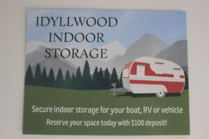 Idyllwood Indoor Storage (Boats, RVs, trailers, cars,motorhomes)