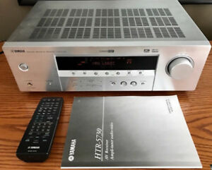 YAMAHA RECEIVER WITH ORIGINAL REMOTE AND MANUAL