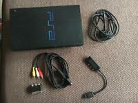Playstation 2, 2 light guns, games and memory card