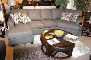 Decor-Rest Sectional with Chaise and Cuddler, Grey