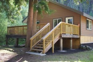 Quesnel Lake / Cedar Creek rd. House and 11.9 acers for rent.