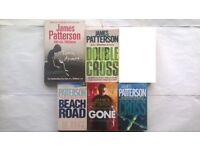 5 James Patterson Paperback Novels, Cross, Double Cross, Beach House, Gone & Torn Apart