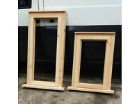 Reds wood window frames