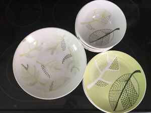 IKEA dishes - bowl, small plates, saucers