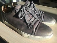 Luxurious Lanvin mens grey leather sneakers, 43 / uk9, rrp £420