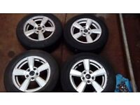 "Vauxhall alloy wheels 15"" 5 stud. Full set (x4) good condition with full set of nuts and lock nuts"