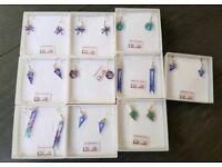 10 pairs new silver handmade earrings