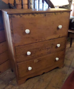 Antique Early Transitional Chest Old Pine Reduced Price