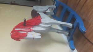 Antique solid wood horse