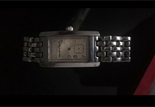 Cheap Armani watchin Yardley Wood, West MidlandsGumtree - Armani genuine watch (real) broken glass and needs replacement hands therefore selling for £20! Can be easily fixed from a watch shop or used for spares and repairs