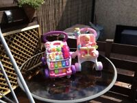 Baby walker and buggy with doll both in excellent condition£15 for both