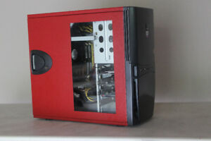 Quad Core RED/BLACK Light Gaming PC $250 OBO