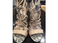 River Island strappy nude sandals