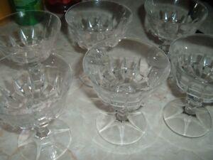 Crystal Margarita Glasses/Dessert dishes