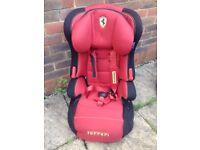 Ferrari Car Seat Forward Facing 4 - 12 Years Kids High Back Booster Children Red