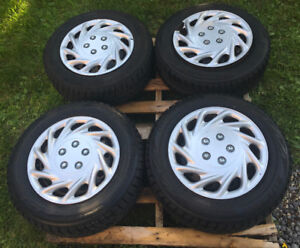 195/65R15 Bridgestone Blizzack WS80 4 Winter Tires & Steel Rims