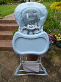 Graco Space Saving High Chair in Blue