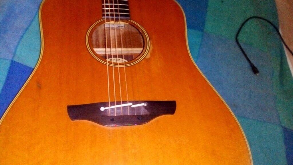 Japanese Takamine EN10 classic 1989 electroacoustic guitar 89041963 plus tortoiseshell type Tak case