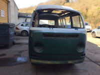 Classic Rust free VW Dormobile Bay Type 2 Camper project. Offers in the region of £3000
