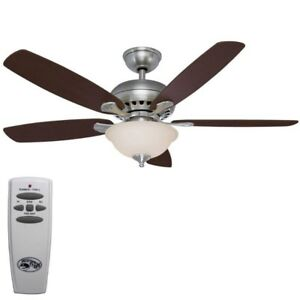 I am looking for:  Ceiling fan with lights and remote