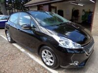 PEUGEOT 208 1.0 ACTIVE 5d 68 BHP 1 PRIVATELY OWNED CAR FROM NE (black) 2014