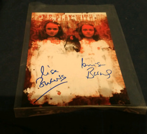 "Signed photo of""Lisa burns and Louise burns""twins in the shining"