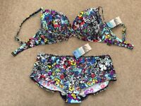 M&S MARKS & SPENCER FLORAL BIKINI NEW WITH TAGS WOMENS