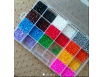 Big container of hama beads