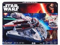 STAR WARS: THE FORCE AWAKENS BATTLE ACTION MILLENNIUM FALCON, Free Postage.