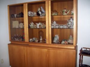 Solid Teak Wood China Cabinet