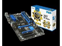 msi Z97 PC mate military class 4 motherboard