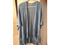 Blue shawl/scarf/cardigan
