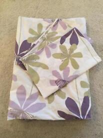 Superking size John Lewis duvet cover and matching pillow cases