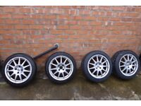 Set of Renault Clio Speedline Turini alloy wheels 172/182 Cup Trophy