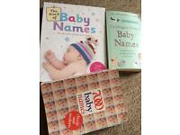 Bundle of baby names books