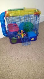 Three Level Dwarf Hamster Cage