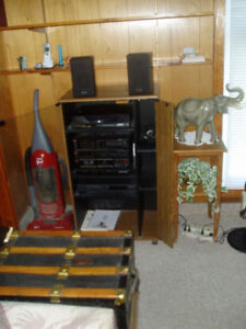 HIGH END Stereo Equipment and Stand for sale.