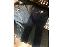Men's 32 inch waist River Island and Zara jeans