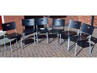 6 IKEA Kitchen Chairs.